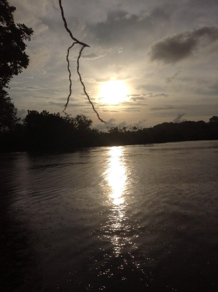 下雨和夕陽
