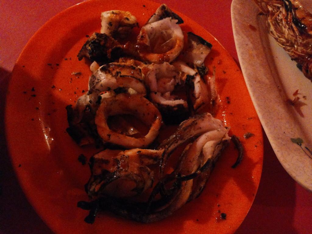 烤焦了的魷魚