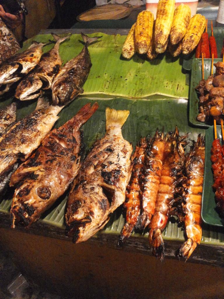 烤魚和烤大蝦