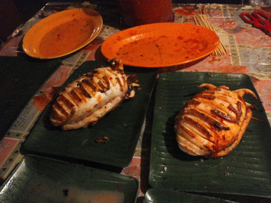 看起來非常吸引的烤魷魚