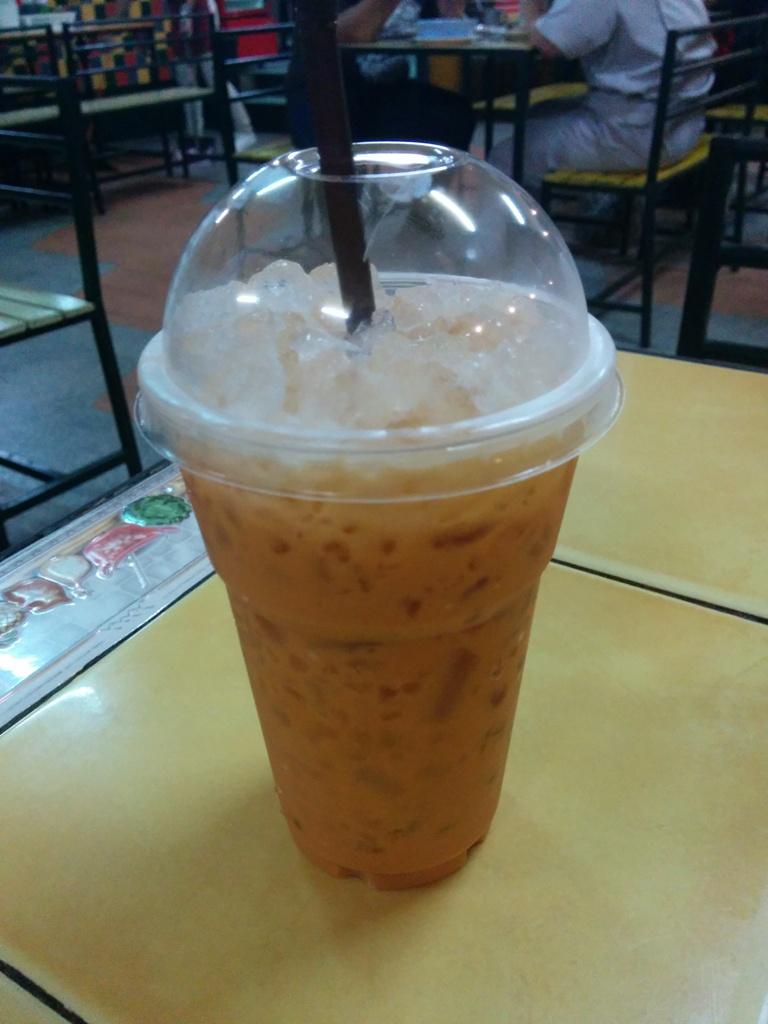 很甜的泰式奶茶