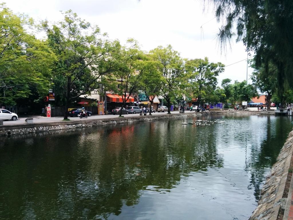 清邁古城區的護城河