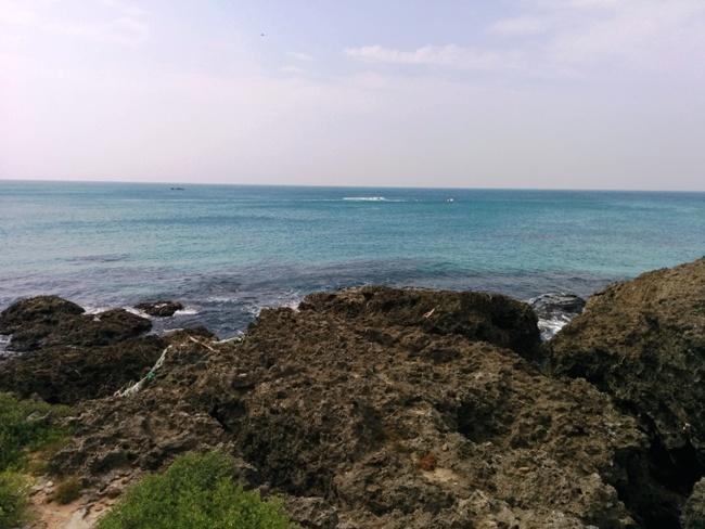 很碧藍的海水