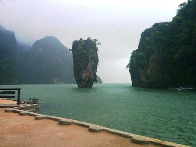雨下的james_bond_island