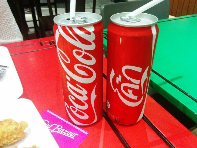 泰國的可樂是高身的