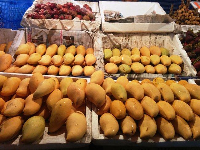很多很吸引的芒果