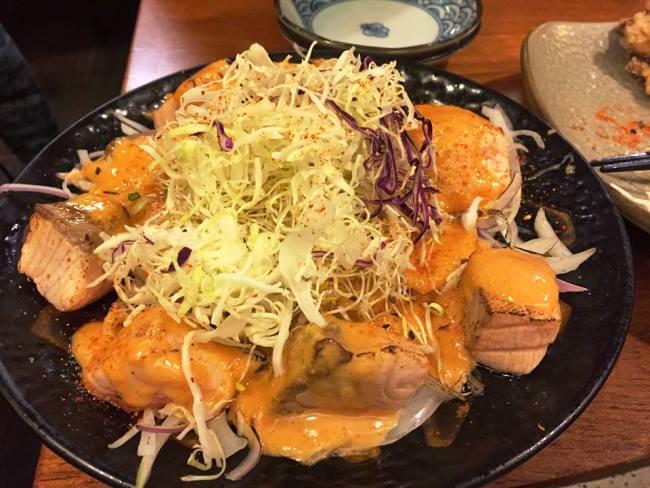 明太子炙烤鮭魚