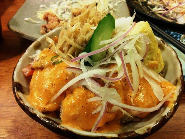 明太子炙燒鮭魚丼