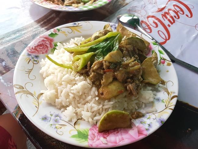 青咖哩雞飯