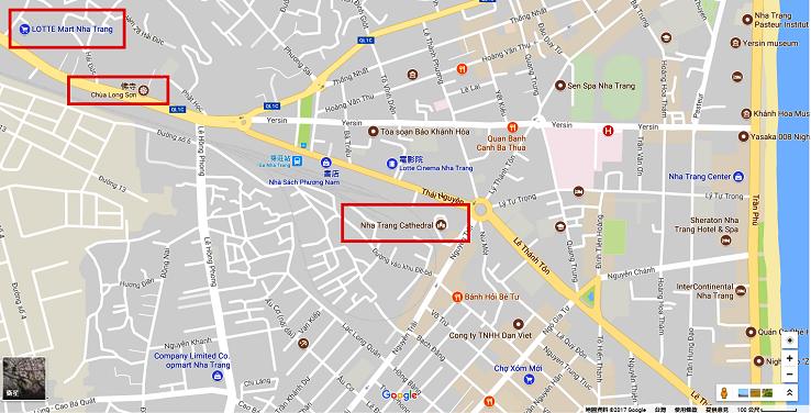 芽莊市區景點地圖