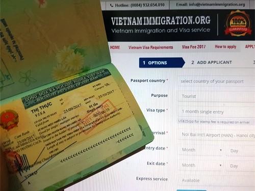 越南網上簽證