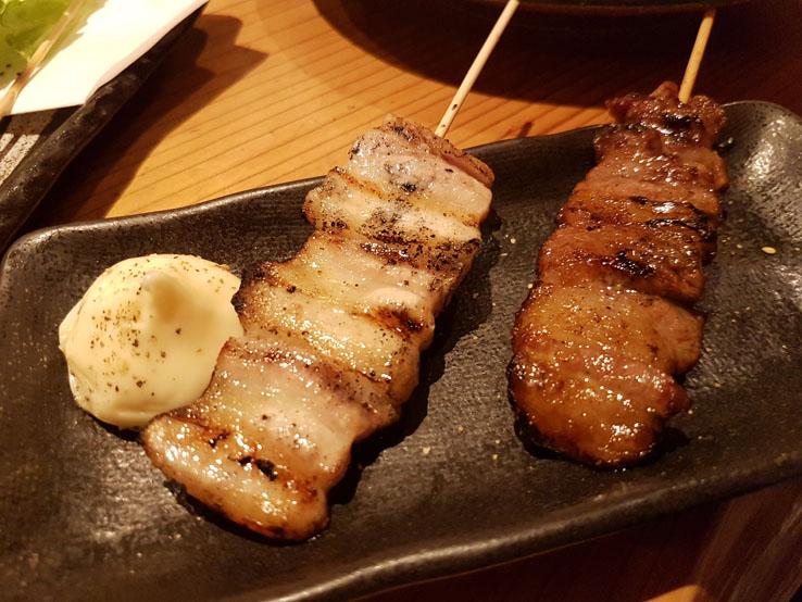 五花腩和牛肉串
