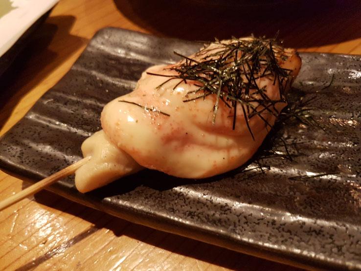 明太子雞肉串