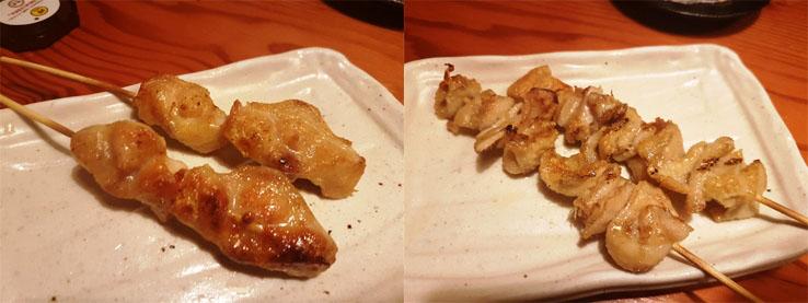 雞肉和雞皮串