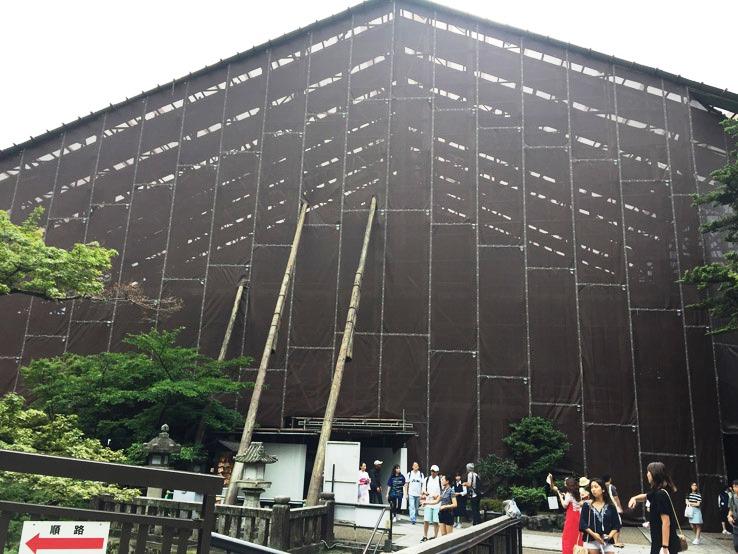 清水寺被黑布包圍