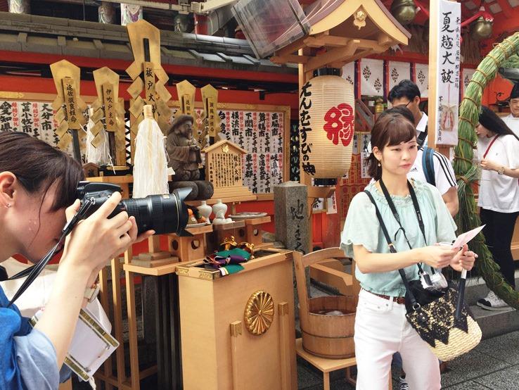日本人拍照