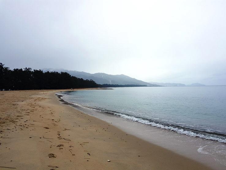 長長的海灘