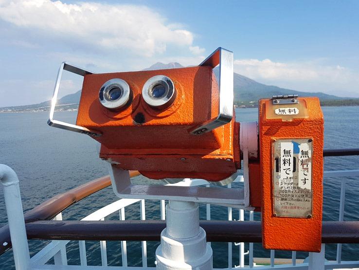 非常好的船上設有望遠鏡,而且是免費的!