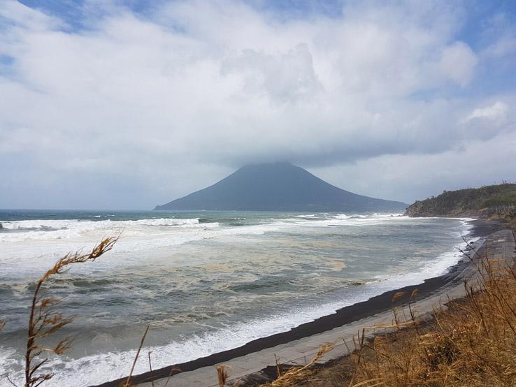 遙望櫻島火山